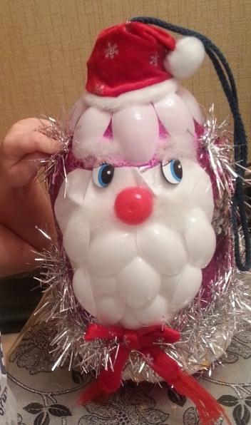 Дед мороз своими руками мастер класс из пластиковой бутылки и ложек