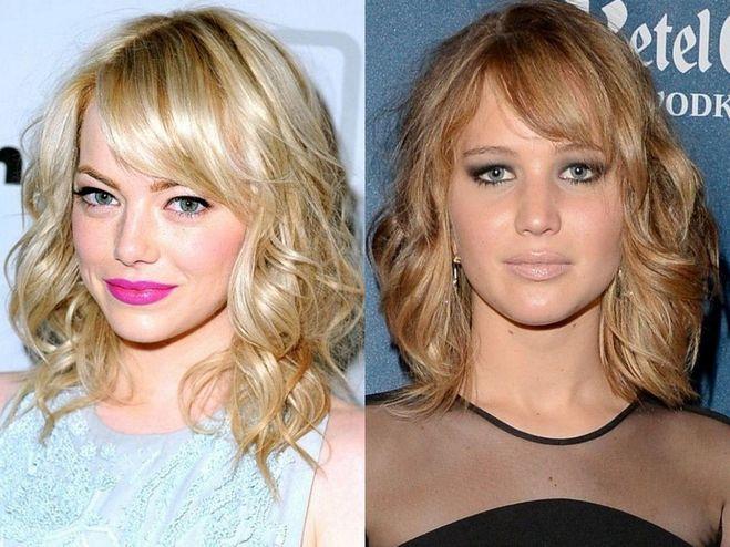 Прически для грушевидного лица фото до и после