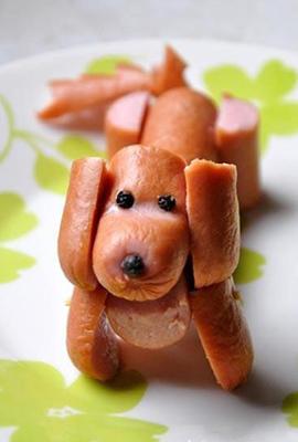 съедобная поделка собака