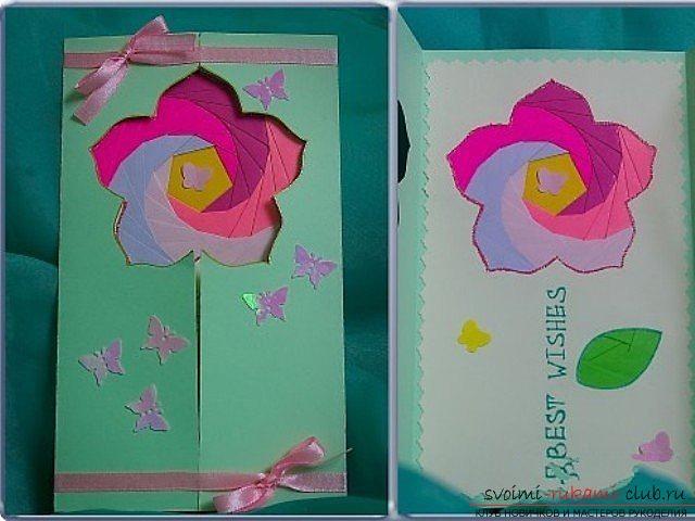 Бабочки в раскладных открытках 635