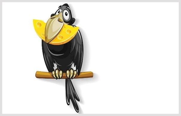 Раскраска к басни крылова ворона и лисица42