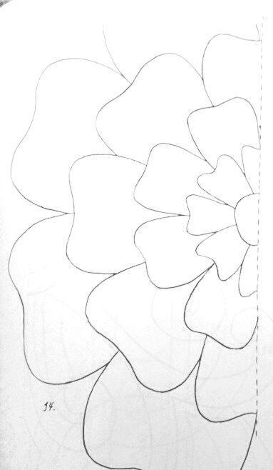 шаблон для цветов из бумаги, ткани