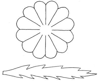 Простейшая схема для ромашки.