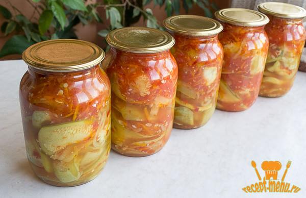 Салат тещин язык из кабачков на зиму рецепт с фото пошагово