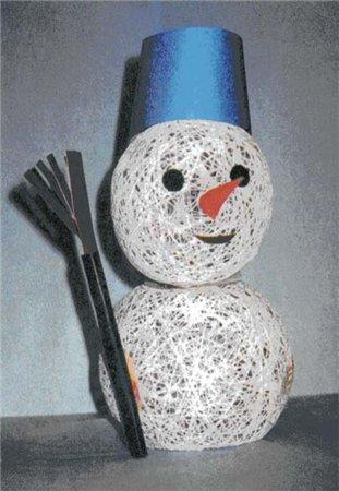 Как сделать глаза снеговику