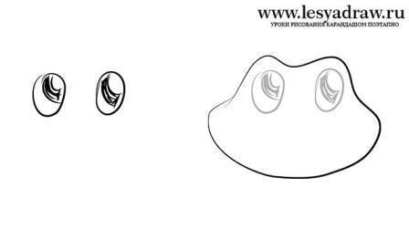 лягушка поэтапно - этап 1