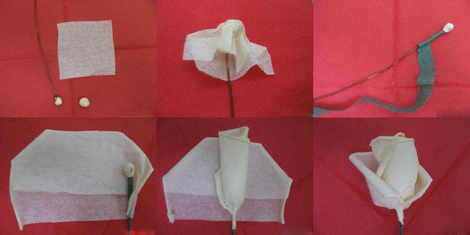 Как сделать из бумаги розу из салфетки