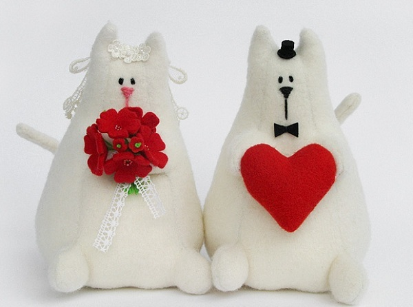 Подарок из фетра на свадьбу