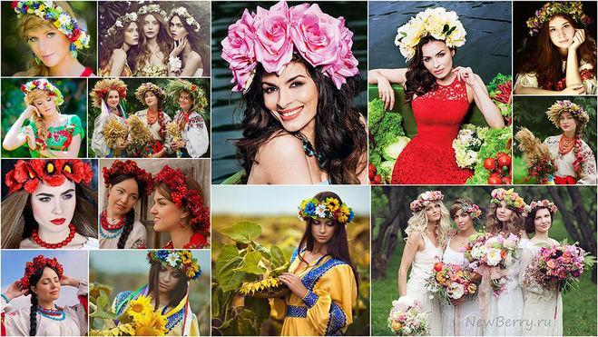 Венки из цветов с чем носить
