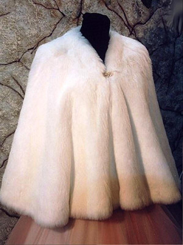 Меховые накидки на платье своими руками