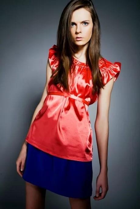 Красная Юбка Синяя Блузка
