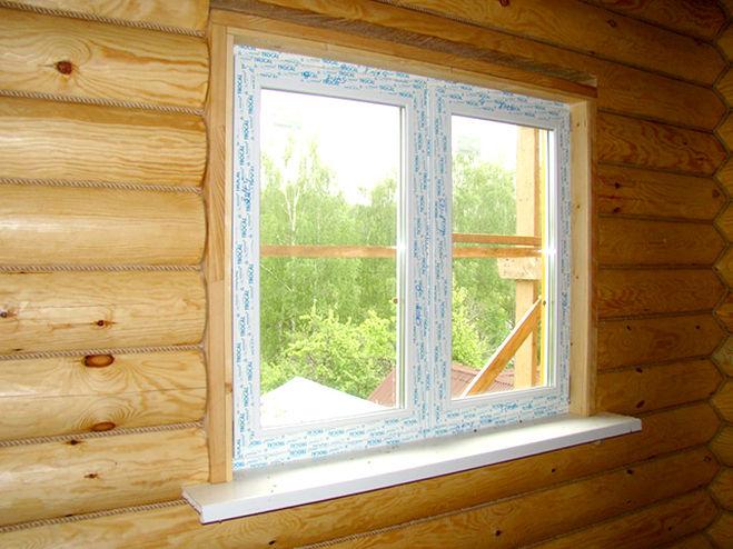 Установка стеклопакета в деревянном доме своими руками 60
