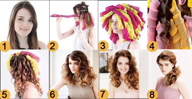 Как накрутить волосы как на плойку в домашних условиях