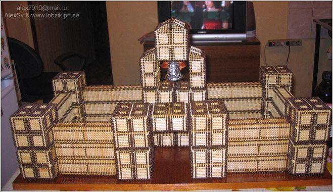 Замок из спичек своими руками пошаговая инструкция фото