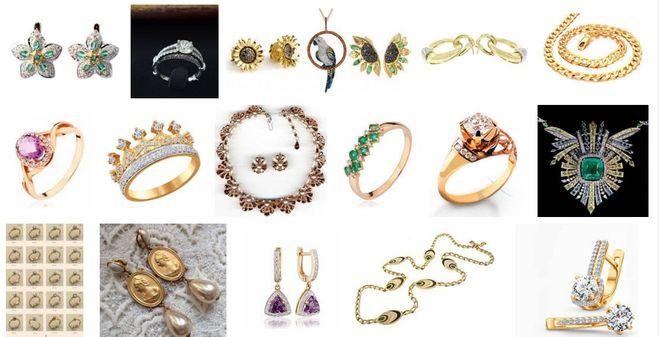 дешевое золото, золотые украшения ассортимент