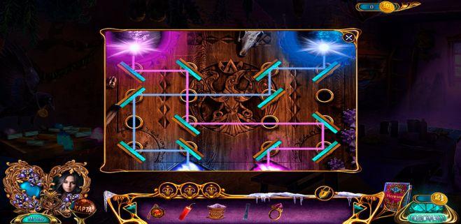 Скриншот с лучами голубыми и розовыми