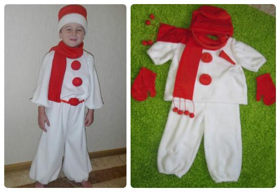 Как сделать костюм снеговика