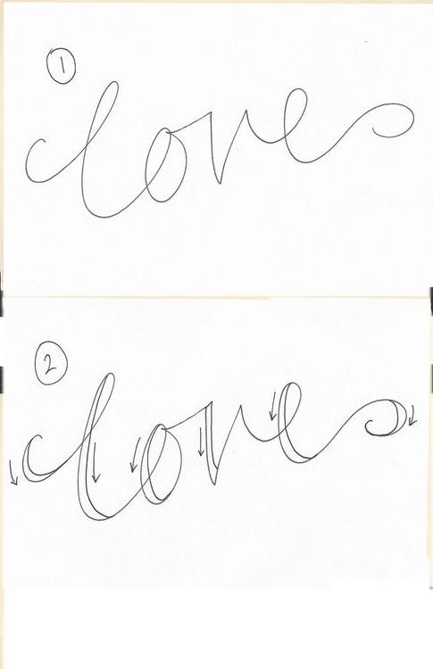 Красиво написать слово цветы