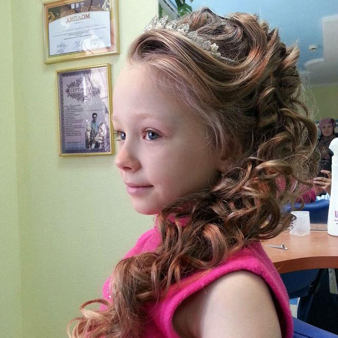 Выпускные прически девочке 7 лет