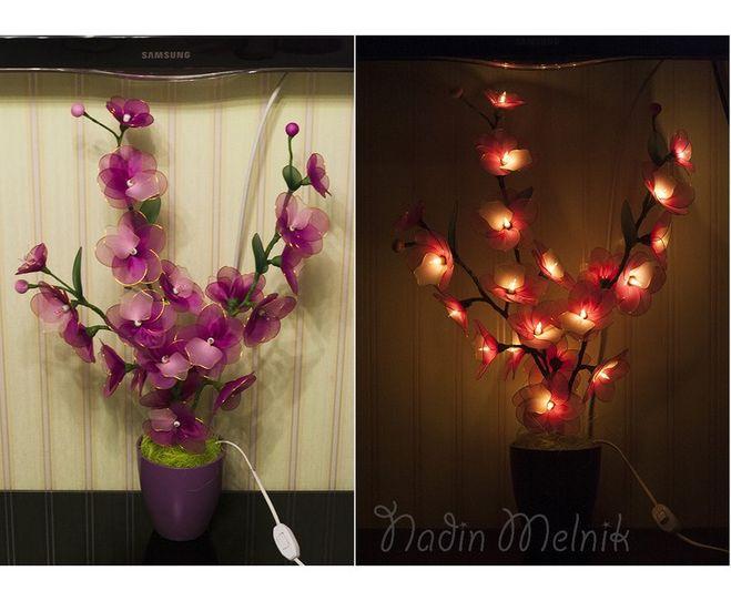 Светильник цветы своими руками мастер класс 47