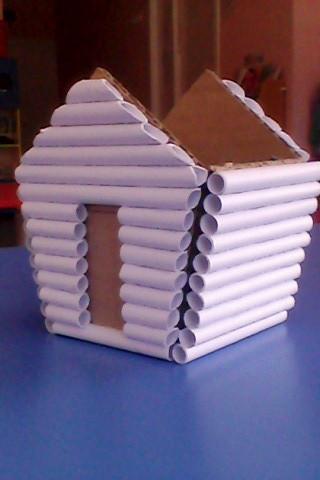 Как сделать домик на курьих ножках из картона