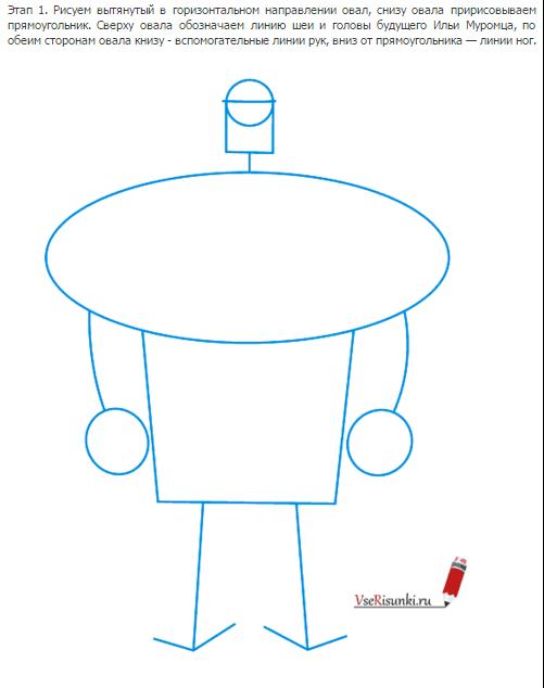 Как рисовать илью муромца поэтапно 2