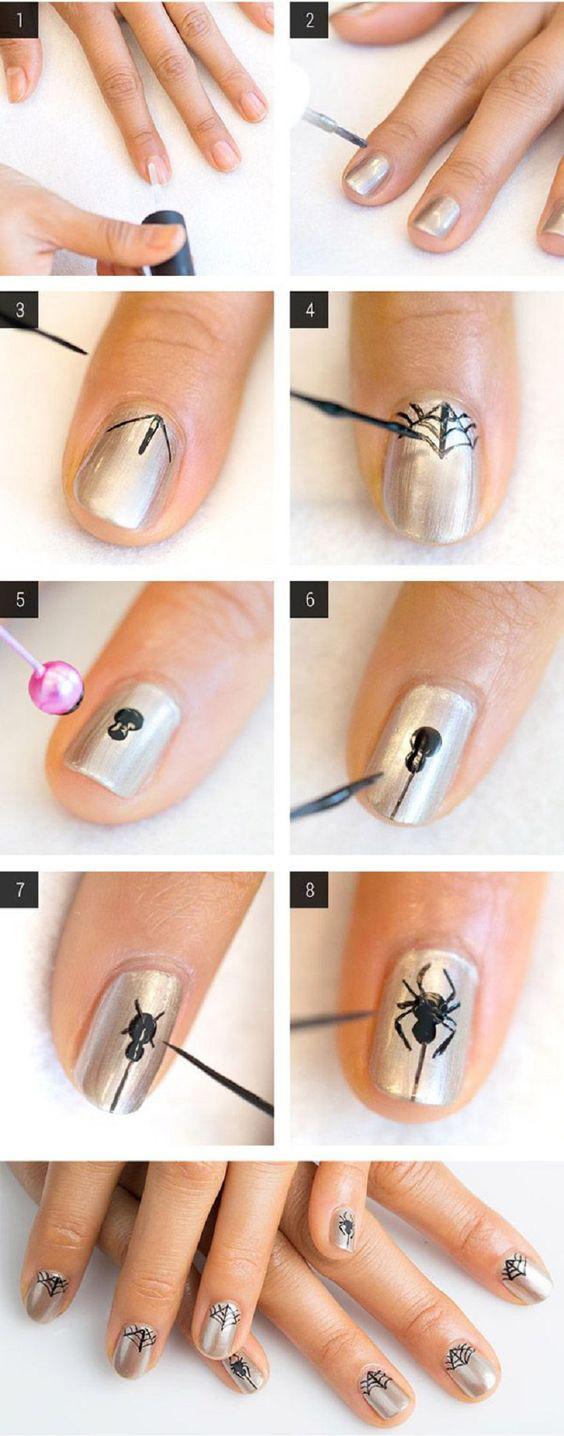 Короткие ногти как сделать рисунки