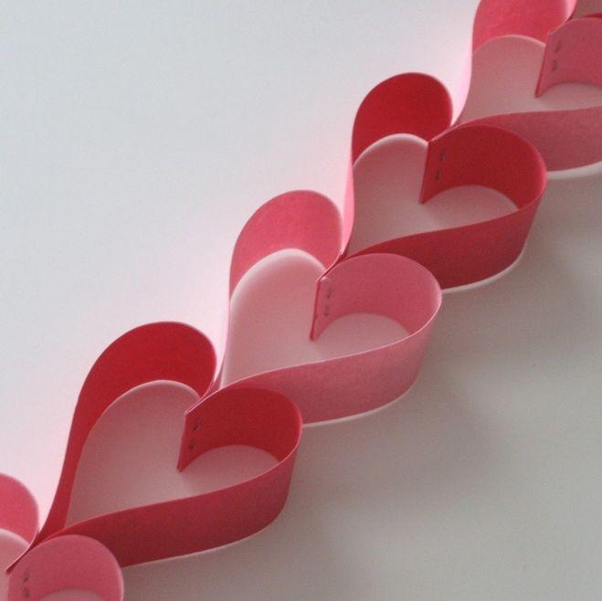 Предназначен гірлянда гирлянда из сердечек бумажних как сделать самому методик