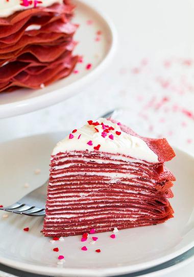 "блинный торт ""**Красный бархат"