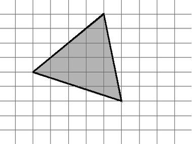 Треугольник на клетчатой бумаге 1x1 см