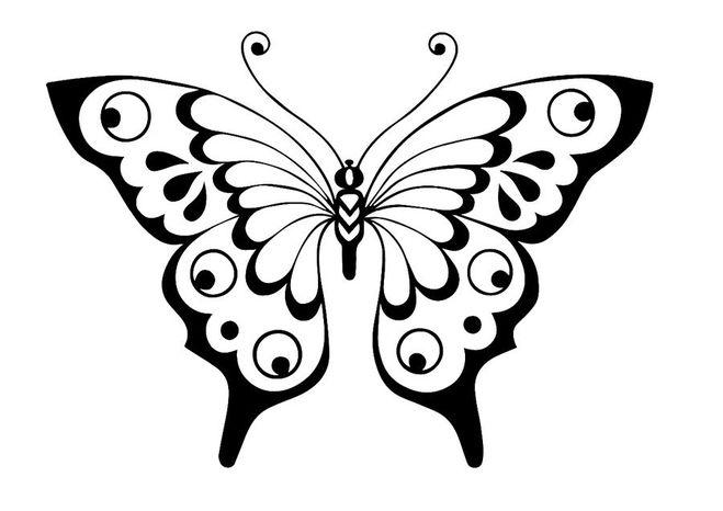 Трафарет бабочки для открытки