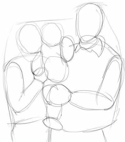 Рисунок для мамы с своими руками с карандашом