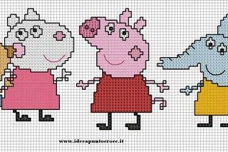 Схема свинки пеппы вышивка 628