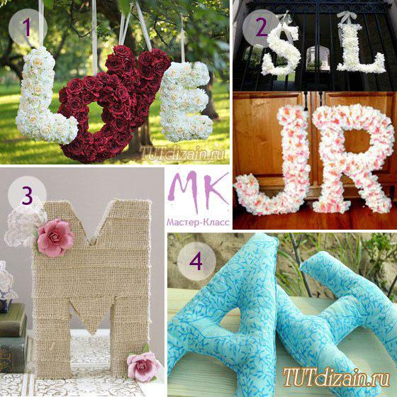 Буквы для декора своими руками шаблоны