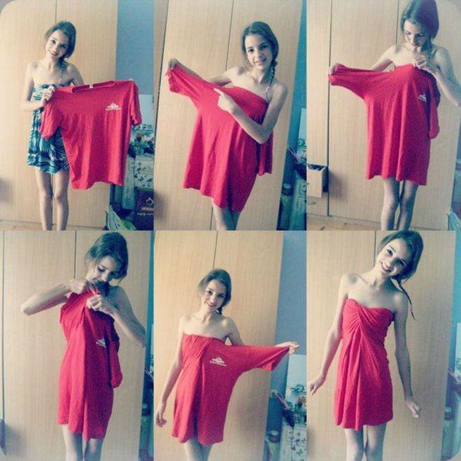 Платье для девушки своими руками