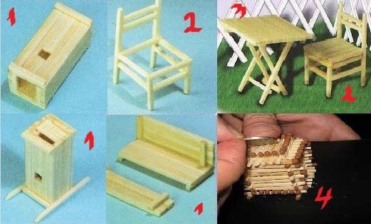 Мебель из спичечных коробков своими руками инструкция 47