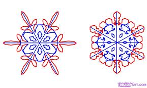 новогодний рисунок снежинка, как нарисовать снежинку