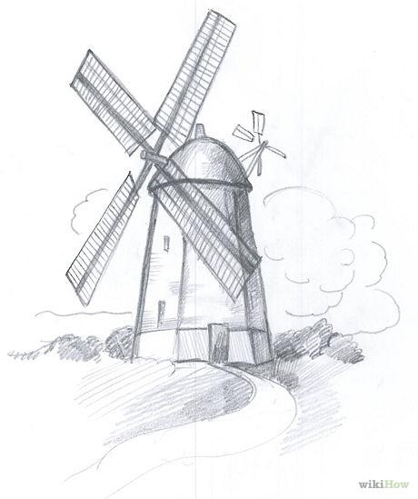 рисунки картинки мельница