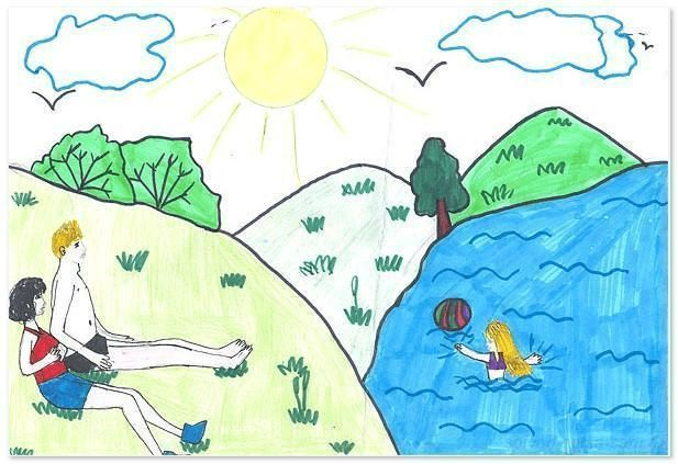 Рисунок на тему мои летние впечатления