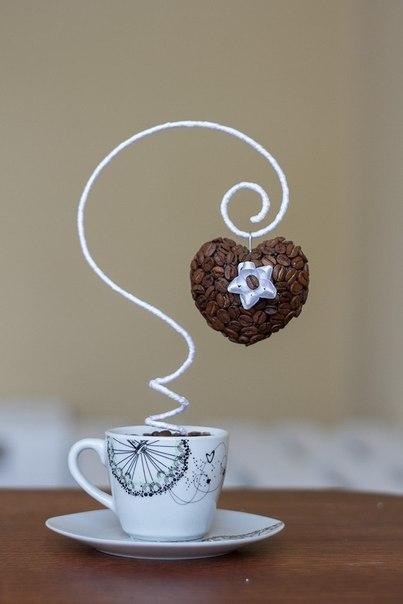 Поделки с кофейными зернами своими руками чашка с блюдцем