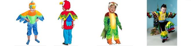 Костюм попугая для девочки 5