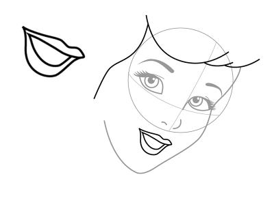 как нарисовать Золушку 3