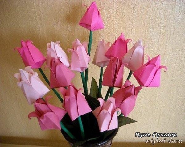 оригами тюльпан фото