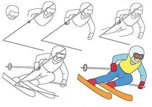 Как нарисовать рисунок на тему спорт поэтапно