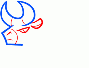 бык рисунок поэтапно