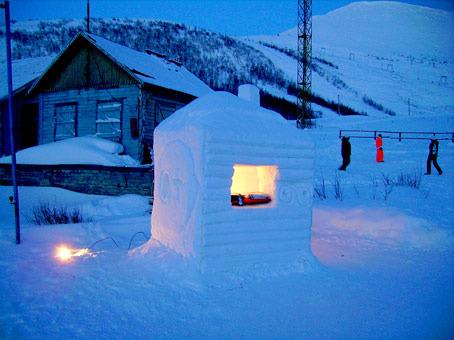Снежный дом своими руками