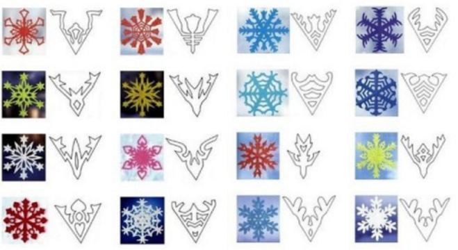 как вырезать красивую снежинку