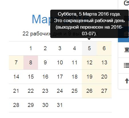7 марта предпраздничный рабочий день сократится на час