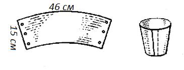 Как сделать ведерко для снеговика из бумаги