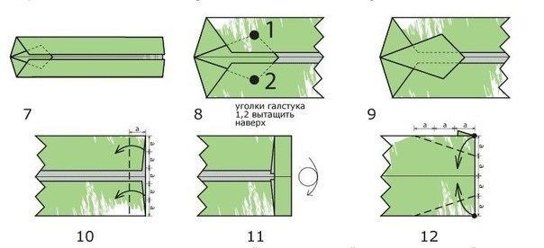 Денежная рубашка с галстуком